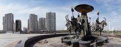 Fountain Sak warriors, Kazakhstan, Astana - Nursultan city