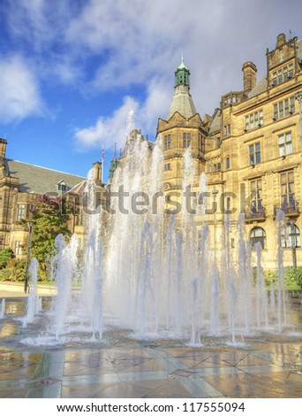 Fountain, Sheffield Town Hall, South Yorkshire, UK