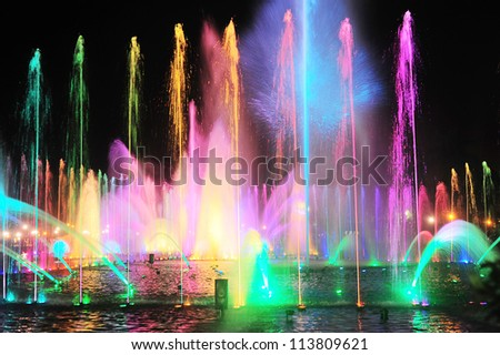 Fountain show at a Rizal park, Malate, Metro Manila