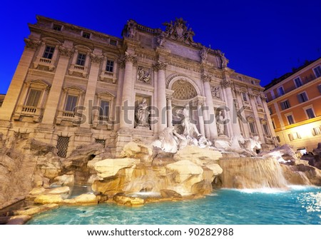 fountain Trevi in Rome at night