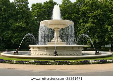 Fountain, Warsaw , Poland