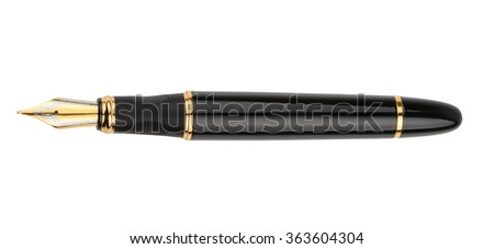 Fountain writing pen isolated on white background