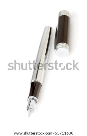 Fountain writing pen on a white background.
