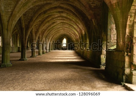 Fountains Abbey Aldfield North Yorkshire England