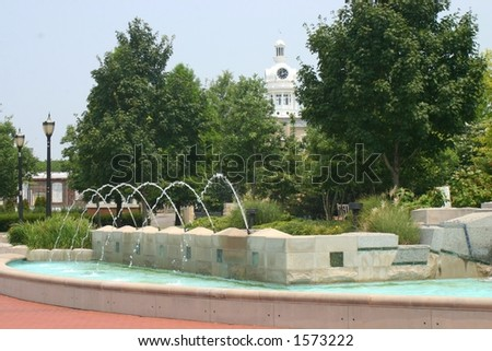 Fountains at the courthouse
