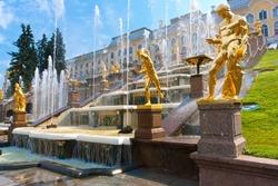 Fountains in Petrodvorets Peterhof, Saint Petersburg, Russia