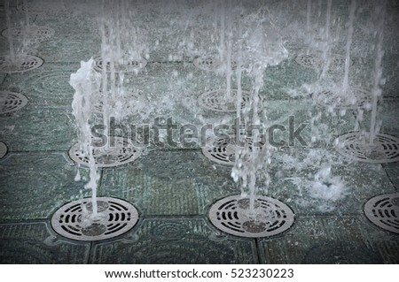 fountains in the ground