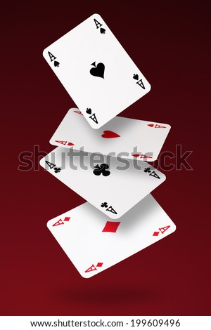 Four Aces/flying cards