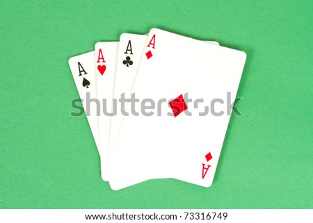 Four Aces - Four of a Kind Poker Hand