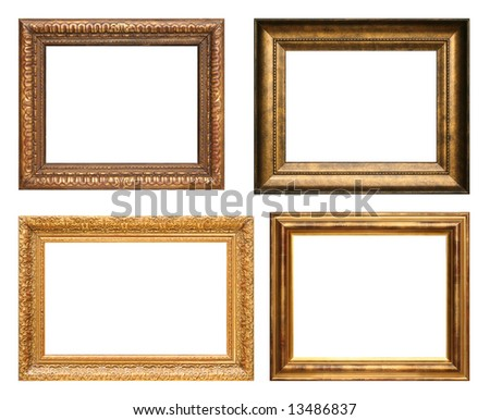 Four antique picture frames. High resolution.