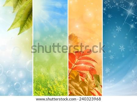 Four bright seasons - spring, summer, autumn, winter.