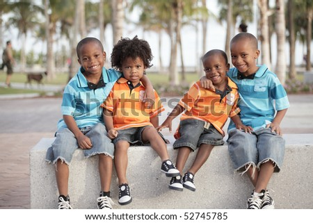 Four brothers in the park