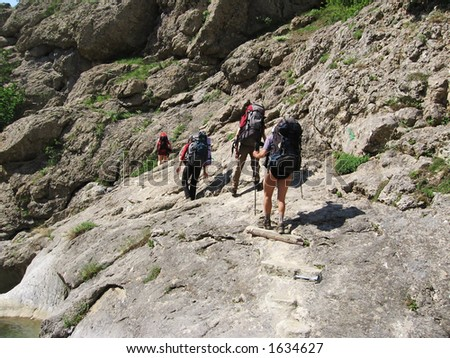 Four climbers for mountains