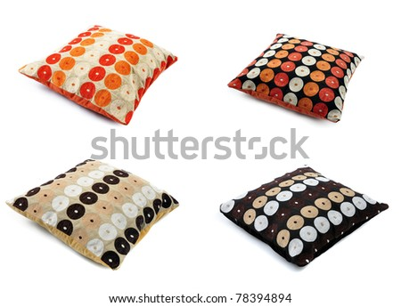 Four color cushions, with african texture
