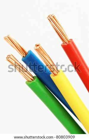 four colors electrical power cable
