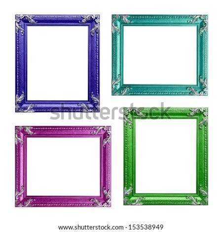 Four contemporary picture frames in high resolution vibrant colors.