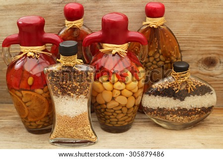 Decorative Bottles With Vegetables Simple Free Decorative Glass Amphora Bottle With Canned Vegetables Design Ideas