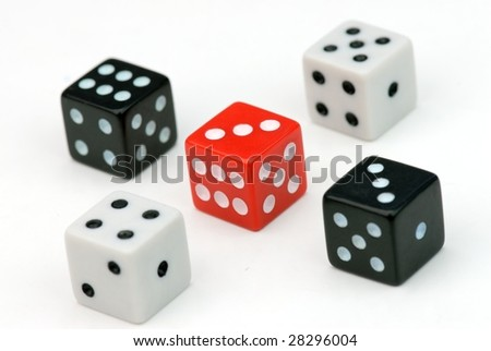 Four Dices on the White #28296004
