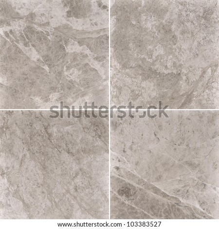 Four different beige marble texture. (high.res.)