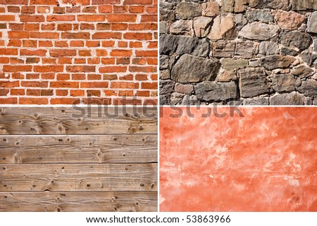 Four different wall texture background