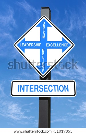 Four Directions Intersection Road Sign, Choice Concept, Clipping ...