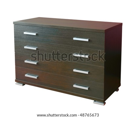 Four Drawers Modern Dresser Isolated On White Stock Photo 48765673