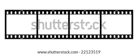 Four Film Strips (Raster version) - stock photo