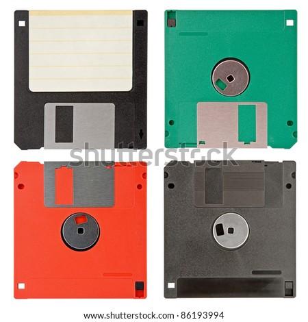 four floppy discs