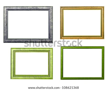 four frames on white background