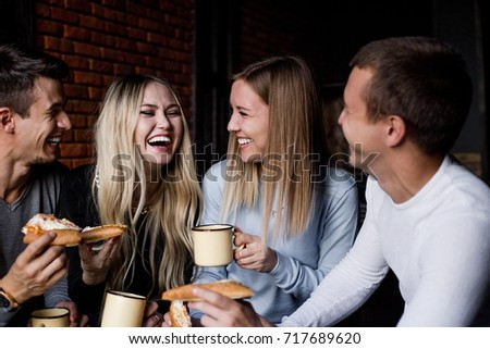 four friends laughing #717689620