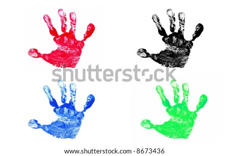 Four Hand Prints