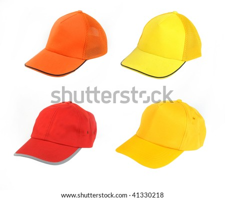 Four  hat isolated on white