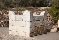 Four horned stone altar in Israel