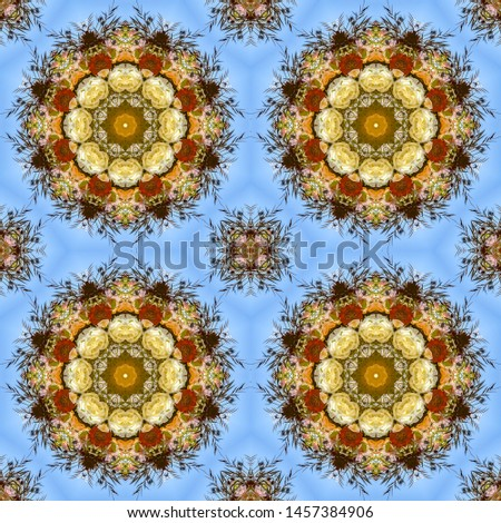 Four identical displays of flowers in circular arrangement at wedding in California #1457384906