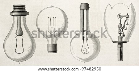 four kinds of lamp in the...