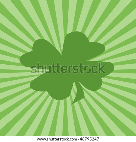 four leaf clover wallpaper. Four-leaf clover and green sunburst