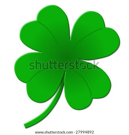 four leaf clover - shamrock illustration