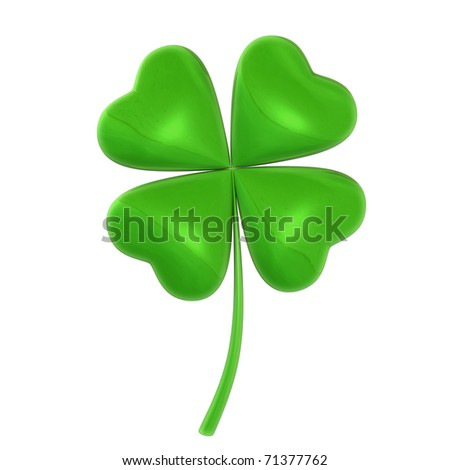 Four-leaf shiny shamrock