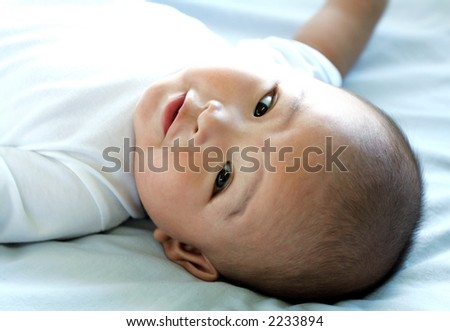 Four Month old Asian Baby Boy