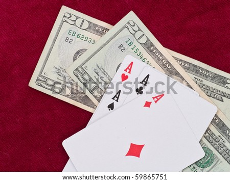 Four of a Kind Aces with Money
