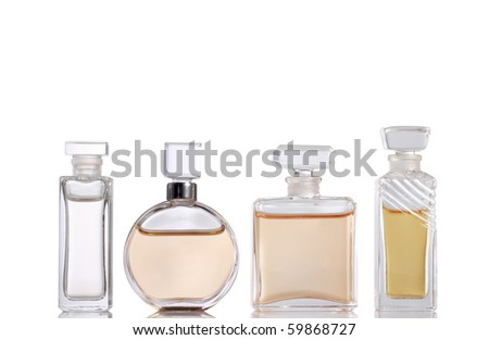 Four Perfume bottles (with clipping paths)
