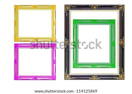 four photo frames on the white background