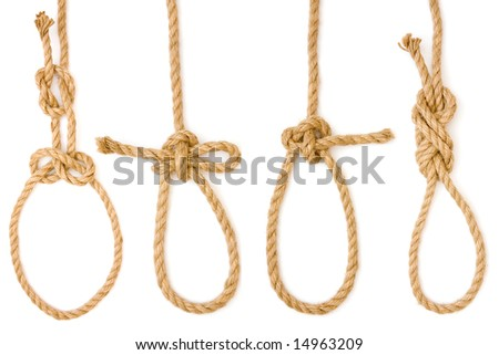 Four pieces of rope fastened in four different loops