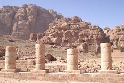 Four Pillars in Petra, Jordan