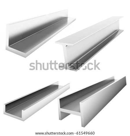 four stainless steel construction bricks on the white