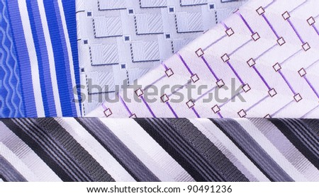 Four tie are on each other an angle