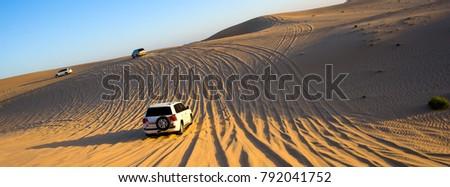 Four wheel drive through the desert in the United Arab Emirates. Stock photo ©