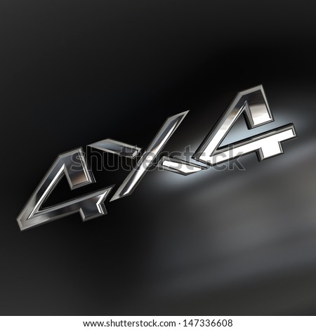 Four-wheel drive, 4X4 silver sign Stock photo ©