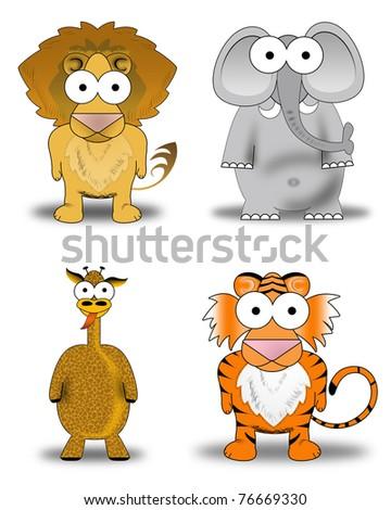 wild animals pictures lion. four wild animals. lion,