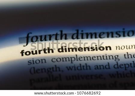 fourth dimension fourth dimension concept.